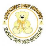 Personalised Lemon Teddy Baby Shower Party Stickers